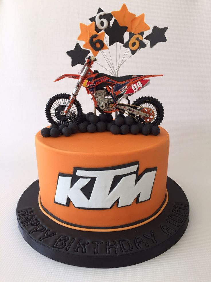 Birthday Cake Ideas Motorcycle : KTM motor cross cake adult parties Pinterest Ktm ...