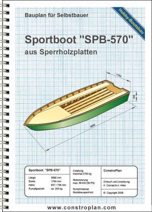 """Bauplan Sportboot """"SPB-570"""""""