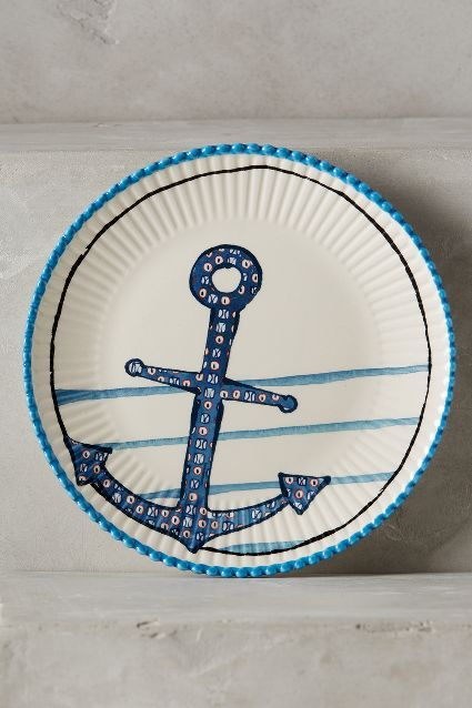 Clambake canape plate home decor for Calligrapher canape plate anthropologie