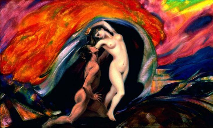 Святослав Рерих. Духовное искусство. Юноша и девушка Svetoslav Roerich