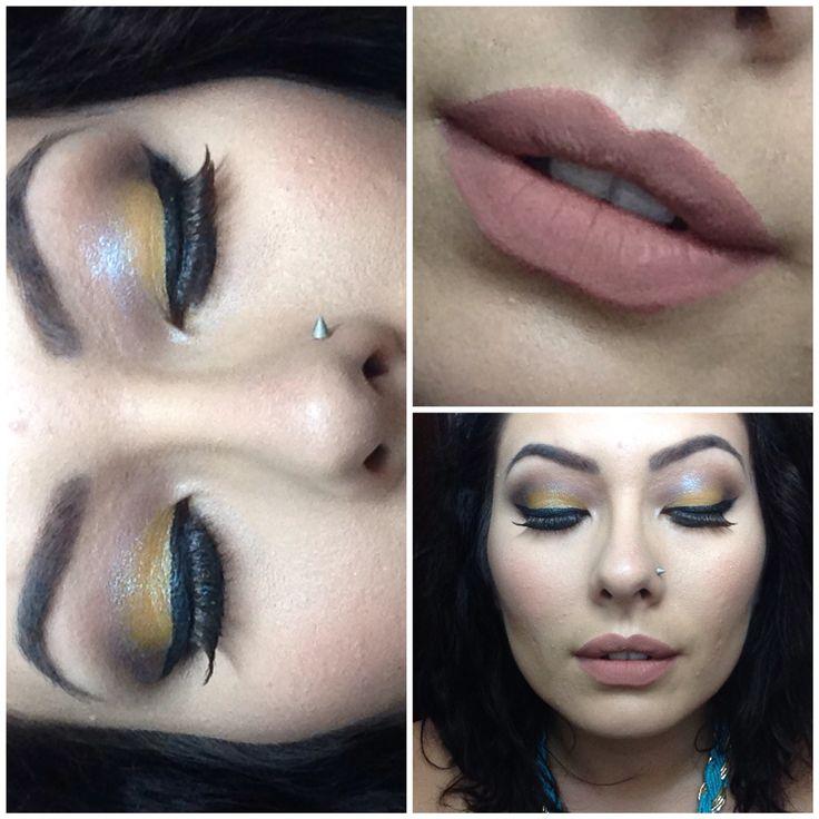 Makeup realizado com a paleta LORACPRO + base Kryolan + batom líquido Dailus :)