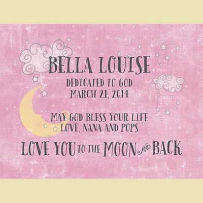 78 best christian baby gifts images on pinterest baby gifts baby light box personalized insert pink love you to the moon baby baptism giftsbaby negle Gallery