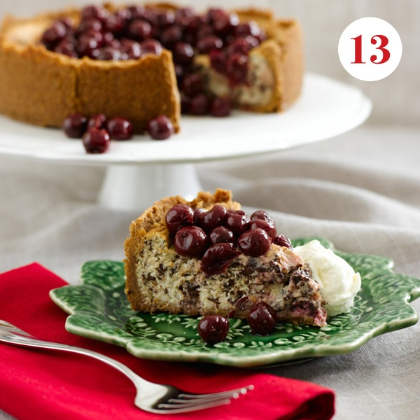 Cheesecake and cherries - foodie heaven!