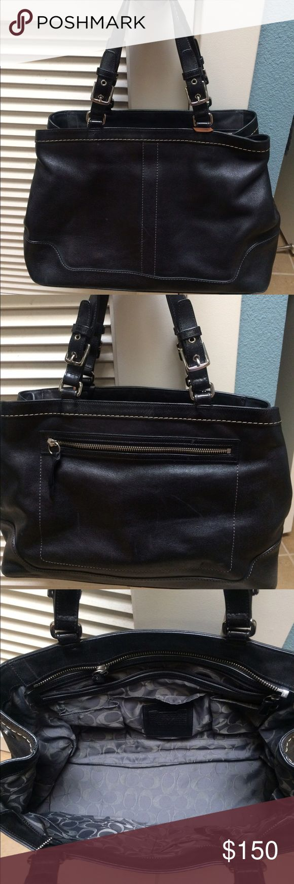 a7d3d01b013a ... real coach travel bag coach travel or work bag very spacious with  multiple pockets. d32ee
