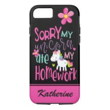 """Unicorn lovers of all ages will adore this trendy phone case with their own name personalized on it. It's the perfect gift for your children or grandchildren from elementary school to college. Remember to replace the name """"Katherine"""" with your own name. This design was created with licensed artwork by: Laguna Collection & PrettyGrafik Designs via complete license at TheHungryJPEG"""
