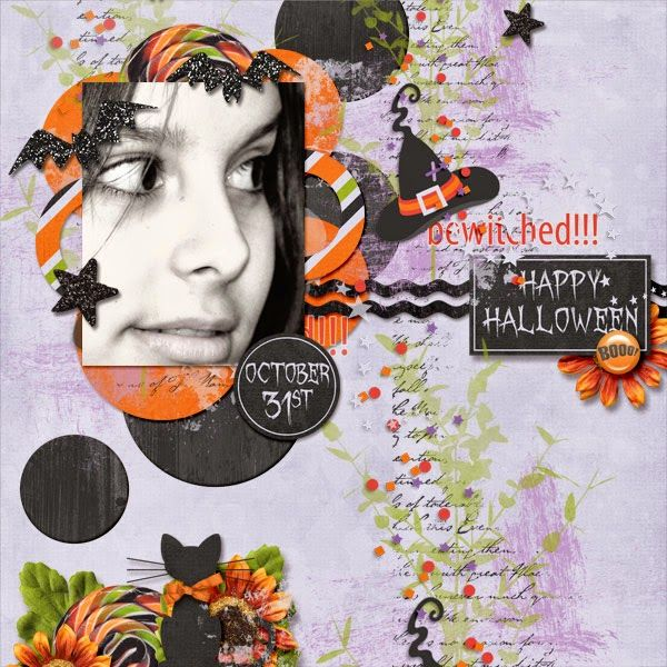 #Template Bewitched by #DagiStemp-tation Eek-A-Boo-Overlays by #Cornelia Designs #Scrapkit O Halloween by #Aprilisa Design Photos by #kpmelly  #ct #layout #gingerscraps
