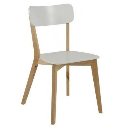 Jídelní židle dřevěná Corby, bříza/bílá