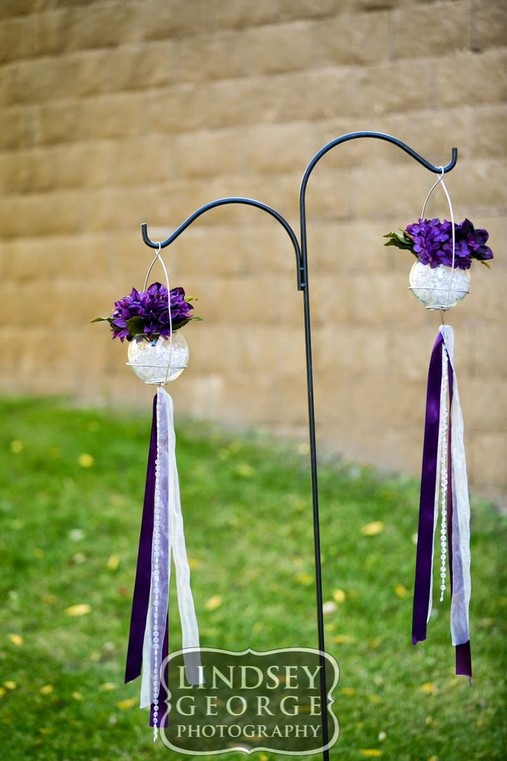 Pretty purple decorations for outdoor wedding ceremony click to view full gallery fall wedding A View West Omaha Nebraska
