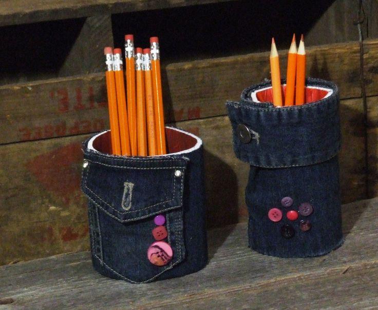 Pots pour crayons, Cadeau pour enseignants, professeurs, maîtres, pour fin d'année ou fête spéciale, fait à la main, artisan québécois de la boutique LaviCreation sur Etsy