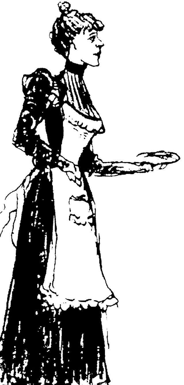 dessin d'Octave Mirbeau (1848-1917), représentant Célestine, l'héroïne de Le Journal d'une femme de chambre, d'Octave Mirbeau)
