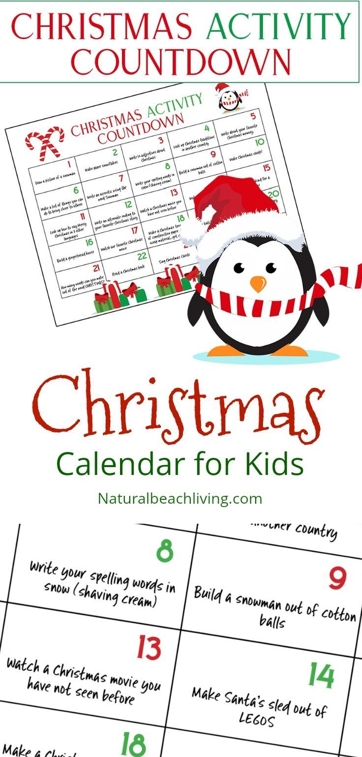 Christmas Calendar For Kids : Unique printable countdown calendar ideas on pinterest