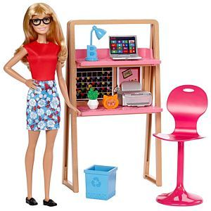 Check out the Barbie Doll and Office Furniture Playset (DVX52) at the official Barbie website. Explore the world of Barbie today!