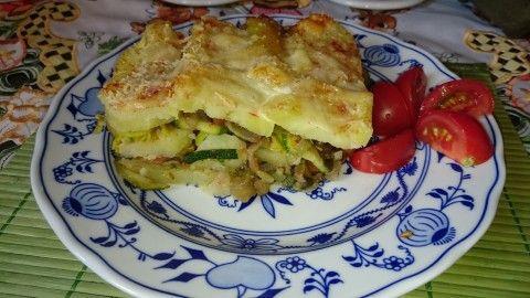 Zapečené brambory s cuketou a lilkem - Powered by @ultimaterecipe