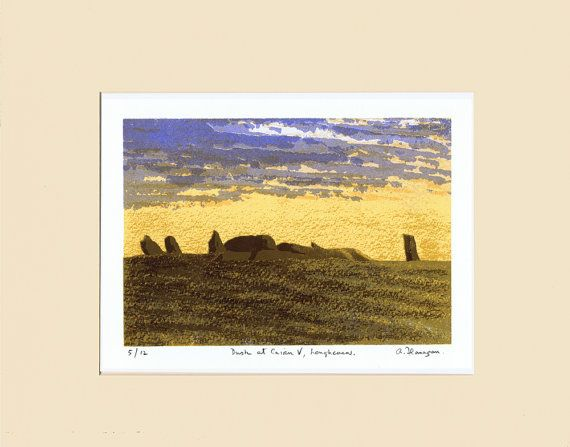 Dusk at Cairn V Loughcrew  Original Limited by AidanFlanaganArt, €150.00