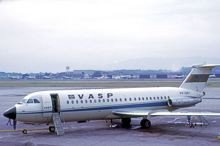 PP-SRT  BAC 1-11 VASP at Rio Galeao in 1972 Photo by RuthAS