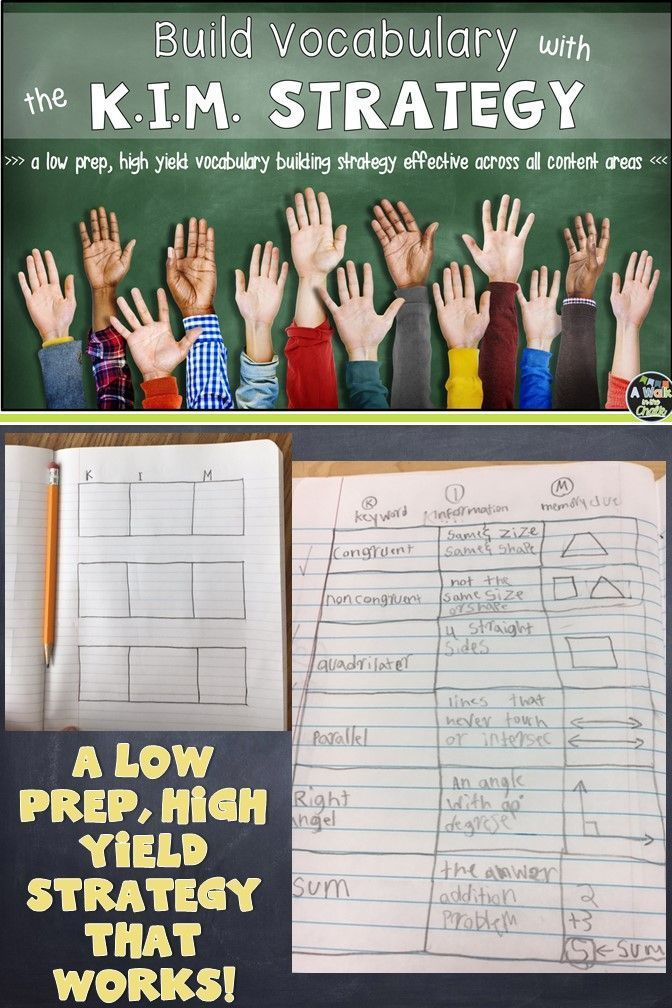 Direct Vocabulary Instruction - a low prep, high yield activity that works!