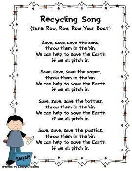 Teach students Earth friendly concepts through catchy poems and songs. Here's a compilation of poems and songs from North Carolina's Region A Par... #earthday #recyclingforkids