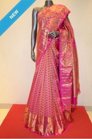 Peach and Pink Pure Kanjeevaram Silk Saree Product Code: AB203293 Online Shopping: http://www.janardhanasilk.com/Peach-and-Pink-Pure-Kanjeevaram-Silk-Saree?search=AB203293&description=true