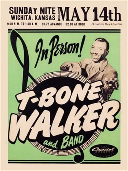 Rock and Roll Concert Posters   Raucous Records > Posters > 1950s Concert Poster - T-Bone Walker