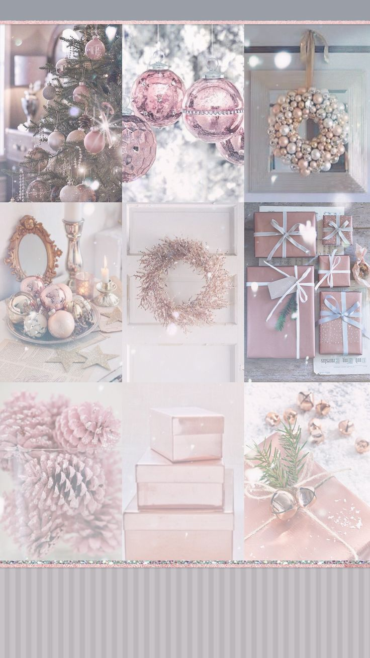 Pastel pink for Christmas