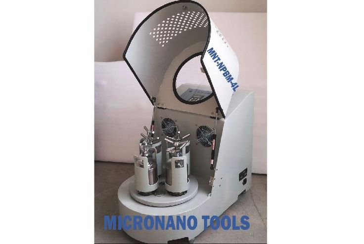 Planetary Ball Mill 4X 1L PBM-4 - Two-year Warranty, Vacuum and Inert Gas Grinding Compatible