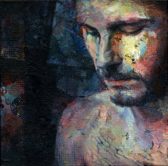 Colorful Portraits, Hands, and Figures Painted by David Agenjo -- These are all quite lovely.. and this guy looks Christian Bale.. yes no??