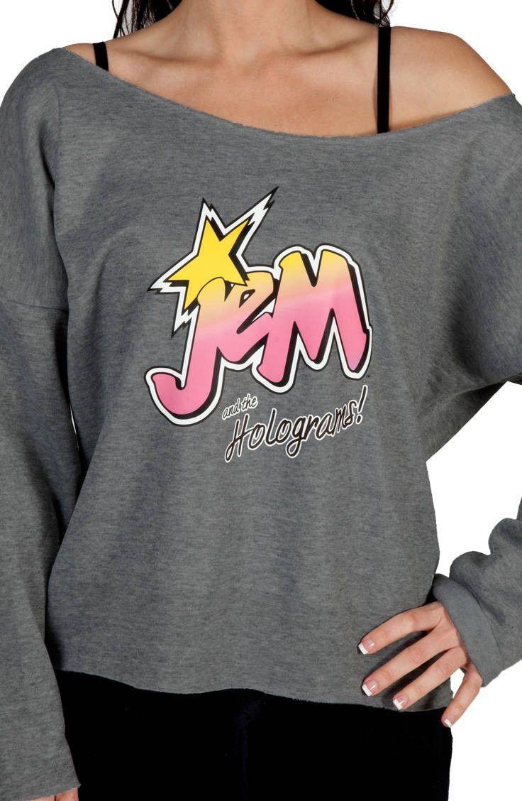 Size large!!!      Jem Sweatshirt: 80s Cartoons Jem & The Holograms Sweatshirts
