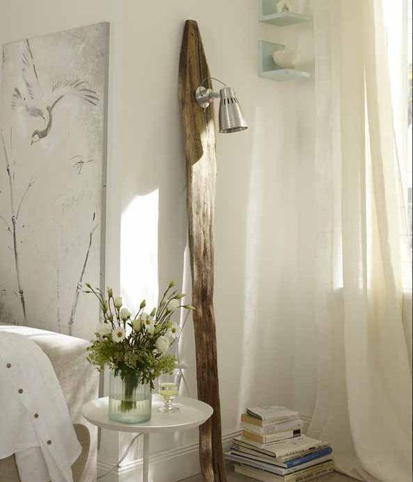 diy driftwood decor home plank stand floor lamp