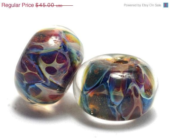on sale 40 off handmade glass lampwork bead sets by gracebeads
