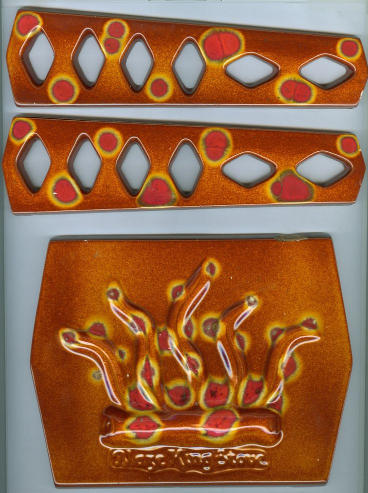 Used Blaze King Stoves Blaze King Ceramic Tiles 3pc Set Cast