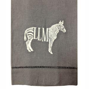 Monogrammed Zebra Guest Towels