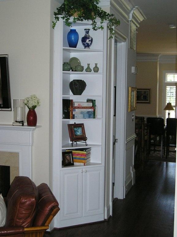Corner Built In For The Living Room