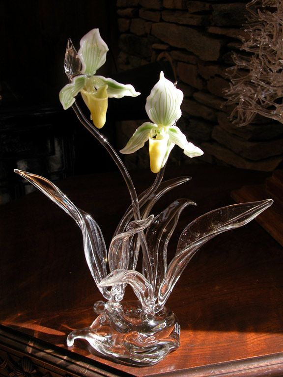 Flower Groupings Hughes glass