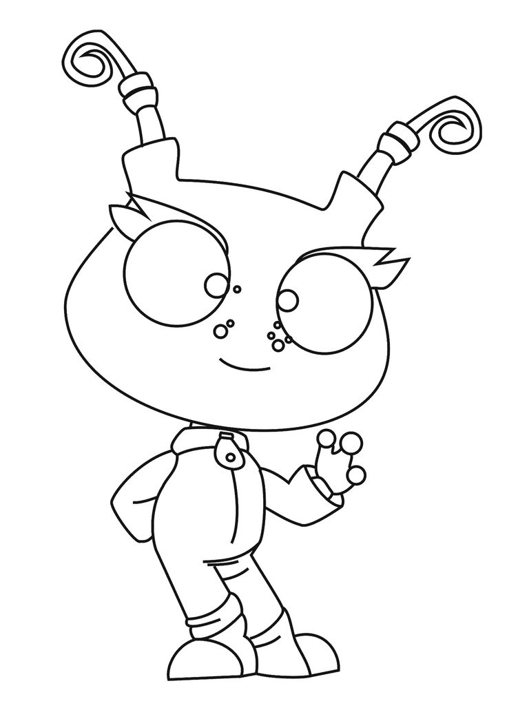 robot monster coloring pages - photo#18
