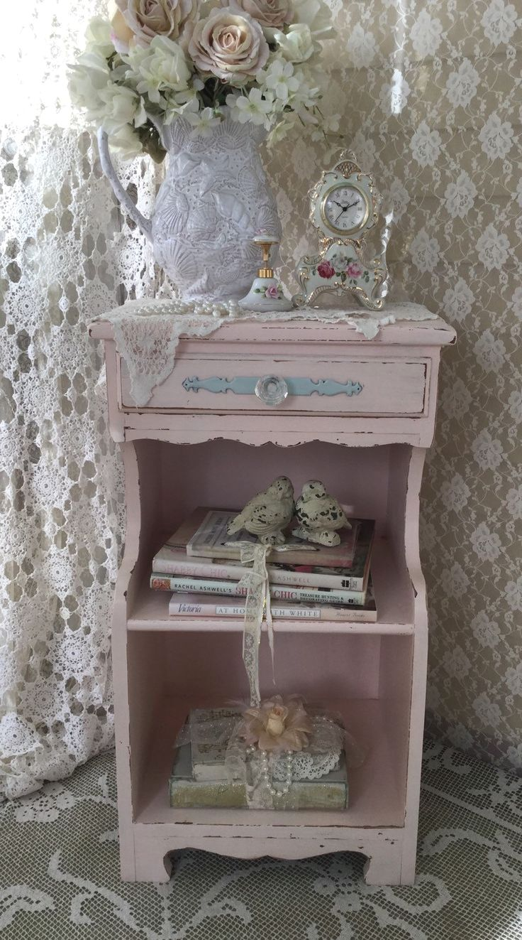A personal favorite from my Etsy shop https://www.etsy.com/listing/262912919/shabby-chic-style-pink-end
