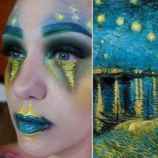 Makeup artist Lexie Lazear transformed herself into classic paintings with some truly breathtaking results. | 12 People Who Proved The Transformational Power Of Makeup In 2016