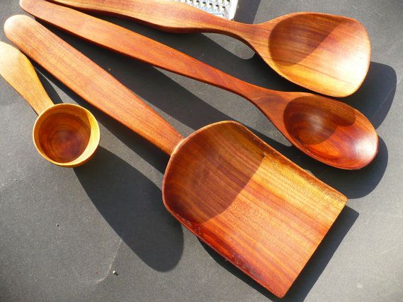how to make a set of wooden musical spoons