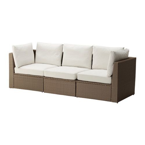 Would be lovely for my sunroom. I want it to be a outside inside room.                          ARHOLMA Sofa combination, brown, beige                           $550.00