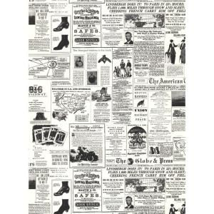 York Wallcoverings 56 sq. ft. Headline News Wallpaper KW7620 at The Home Depot - Mobile