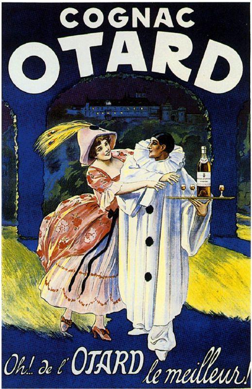 French Cognac Otard Liquor Beer, Champagne, Wine Advertisement Art Poster Print #Cognac