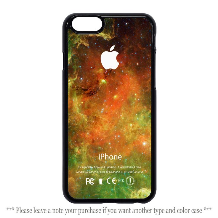 Green Orange Galaxy Nebula Print Cover iPhone 4 4s 5 5s 5c 6 6 plus Case #UnbrandedGeneric