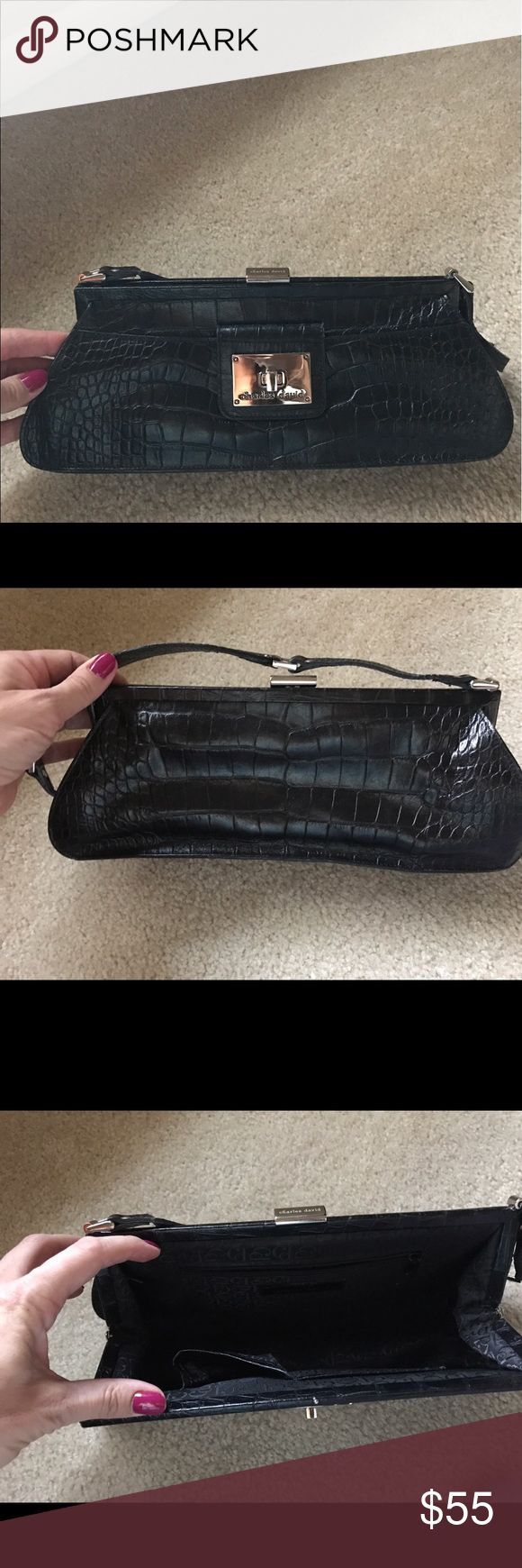 Charles David black handbag Great handbag for a night out. very nice Charles David handbag. Still in great condition.  13 inches x 3 inches x 5 inches  Color: black Charles David Bags Shoulder Bags