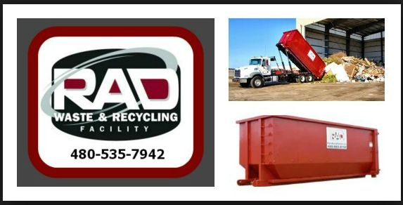 Mesa AZ RAD Rolloff Dumpster Rentals Our heavy weight 20-yard roll-off dumpster with rear door access for easy loading is 22feet long,
