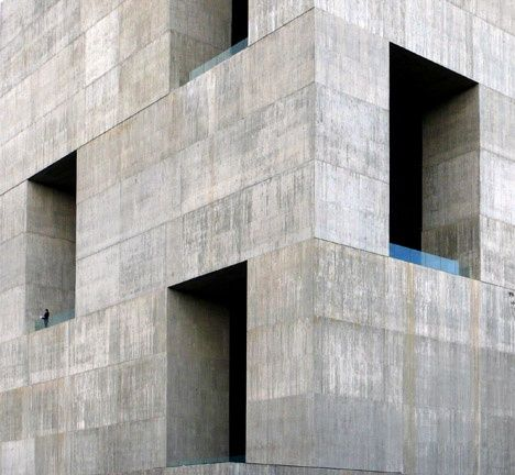"""waaaat?   Giant openings puncture Elemental's """"monolithic"""" concrete innovation centre   Architecture"""