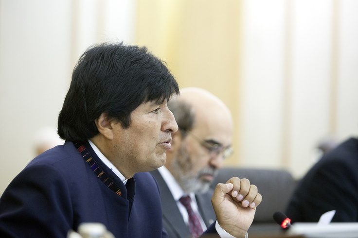 Evo Morales and Jose Graziano da Silva ©FAO/Giulio Napolitano