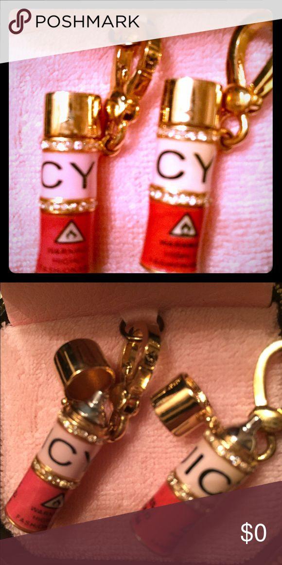 Juicy Couture Charm Juicy Couture Hairspray charms. The lid opens and there's crystals all around the can, which are all intact. Super shiny and never used. Duplicates that I acquired over the years. Not for sale, just sharing from my personal collection. Juicy Couture Jewelry