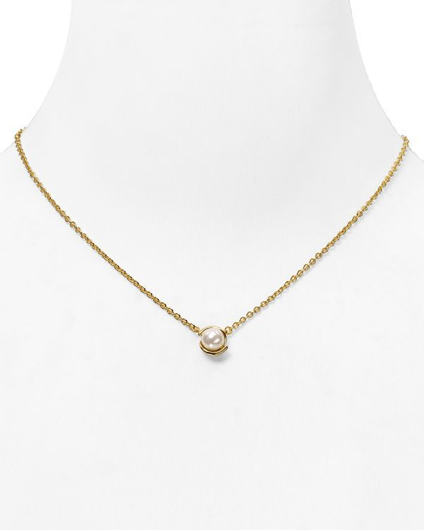 """kate spade new york Dainty Sparklers Faux Pearl Pendant Necklace, 17"""" 