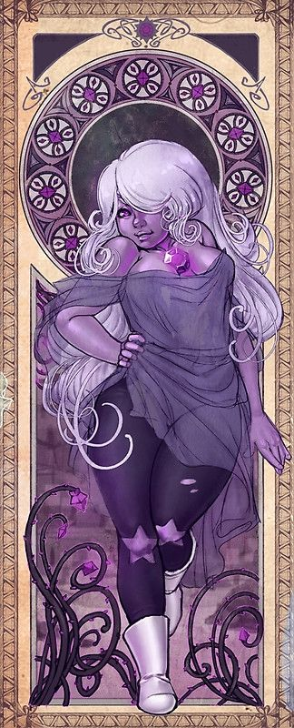 The Amethyst panel from my Steven Universe art nouveau series • Buy this artwork on apparel, stickers, phone cases, and more.
