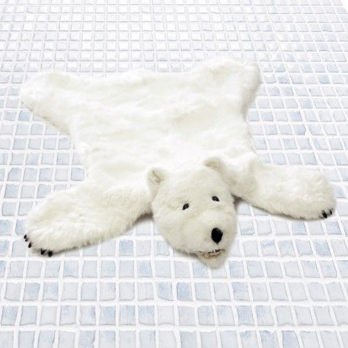 Adorable Faux Fur Full Body Polar Bear Skin Rug Measures Wide X Long. The  Realistic Fur Is Fake And Totally Fun For Kids And Adults.