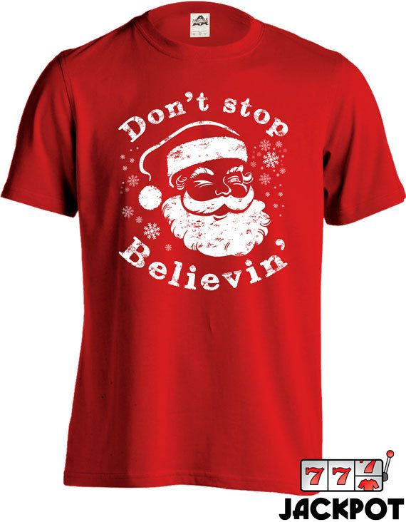 Funny Christmas T Shirt Santa Claus Shirt Don't by JackPotTees